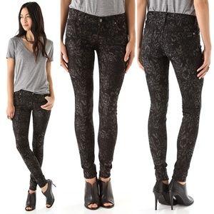 7FAM Jacquard Skinny Jeans